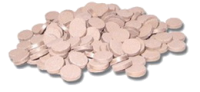 Припой марки П 100 в виде таблеток толщиной 1,6-2 мм, диаметром 10 мм.